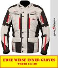 Weise Houston OUTLAST Stone Motorcycle Textile Jacket Touring Waterproof Warm