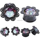 Hot Women Lady Fashion Elegant Flower Rhinestone Glass Ear Stud Earrings N98B
