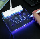 LED Desk Lamp Light + Message Board USB Rechargeable Touch Switch Best Kids gift