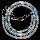 """40 Crt 1 Strand 3 mm to 5.5 mm 15.4""""Natural Ethiopian Opal Gemstone Beads 0539."""