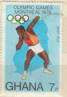 Olympics Ghana stamp - shows shot putt - see scan