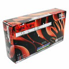 3 Box/Lot Black Nitrile Night Angel Powder Free Exam Gloves size from Small-XL