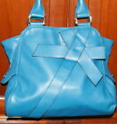 Stylish Teal Blue Tote by Nine & Co Gift Wrapped Style Handbag FREE SHIPPING!