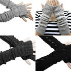 Details about  Fashion Womens Gloves Arm Warmer Long Fingerless Knitted Crochet