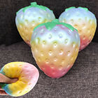 1PC Rainbow Strawberry Squishy Super Jumbo Scented Slow Rising Rare Fun Toy T