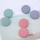 Striped Button Circle Round Ear Stud Women Personality Sweet Earring Gifts New