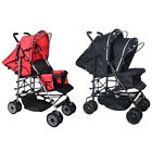 Einstellbare Baby Twin Tandem Doppel Kinderwage Twin Travel Pushchair Pram Buggy
