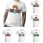 Men's Anime ONE PIECE Printed Cotton Casual Short Sleeve T-Shirt Tops Crew Neck