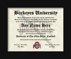 Ohio State Buckeyes #1 Fan Custom Diploma Certificate for Man Cave NCAA Novelty