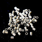 Sterling Silver Jewelry making Tube Crimp Beads 20/50/100pcs Findings sale 2mm