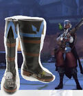 Hot! Overwatch Anna Pirate Queen cosplay shoes costom made HH.878