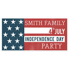 Patriotic Theme Happy Independence Day Personalized Party Banner Decoration