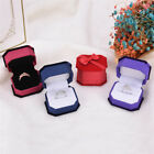 Bow Knot Jewelry Gift Box Flannelette Ring Earrings Pendant Jewelry Box CaseJR
