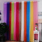 Hot Valances Colors Floral Tulle Voile Door Window MG Curtain Drape Panel Sheer