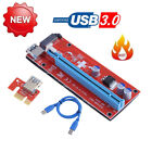 60cm PCI Express Riser Card 1x to 16x USB3.0 Cable Power Adapter Bitcion Mining