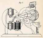 Edison patents motion picture camera - 1869 Thomas Edison Ticker Tape Patent Art Poster Cool Science Geek Gifts