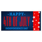 Patriotic Blue Happy Independence Day Party Banner Decoration