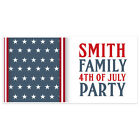 Patriotic Stars Happy Independence Day Personalized Party Banner Decoration