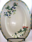 Julie Pople Country Fruit Collection Oval Green Yellow Serving Platter