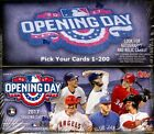 2017 Topps Opening Day Singles (Pick Your Cards 1-200)