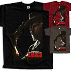 Django V2, movie poster, T SHIRT BRICK BLACK BROWN all sizes S to 5XL