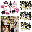Women Men Birthday Party Photo Booth Props On A Stick Mustache Frame Game Decor