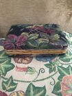 Vintage Canvas Fabric Covered Jewerly Box