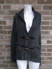 Anthropoloige Margaret O'leary Gray & Black Knit top  / cArdigan Sweater sz S