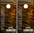 Los Angeles Chargers Player Cornhole Wrap Skin Game Board Set Vinyl Decal CO18 $39.95 USD on eBay