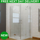 Frameless Corner Entry Shower Door Enclosure Pivot Hinged 6mm Cubicle Screen