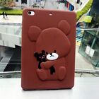"""Kids Cute Bear Pattern Soft Silicone Rubber Cover Case For Apple Ipad 9.7"""" 2017"""