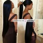 Silky Straight Human Hair Lace Front Wigs Brazilian Remy Glueless Full Lace Wigs
