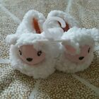 anerican girl size medium fluffy sheep lambie slippers bitty baby