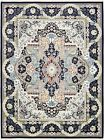 Persian Design Traditional Area Rug Oriental Style Soft Carpet Medallion Floral