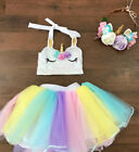 Внешний вид - Kids Baby Girls Princess Rainbow Tulle Tutut Skirt Dancewear Dress Costume Mon
