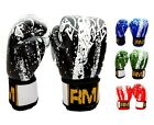 RingMasterUK Boxing Gloves Genuine Leather Punch Bag Kick MMA Muay Thai Sparring