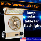 2in1 Solar Power/AC Rechargeable Camping Cool Fan Light Tent LED Lantern Cooler