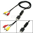 New AV Audio Video RCA Cable Fit for Sony Playstation PS1/PS2/PS3 Game Console