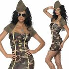 Ladies Major Trouble Army Military Soldier Fancy Dress Costume & Hat