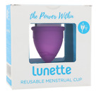 NEW LUNETTE REUSABLE MENSTRUAL CUP MODEL 1 FOR LIGHT TO NORMAL FLOW WOMEN CARE