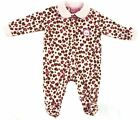 Infant Girl's Sleeper Carter's Baby Watch the Wear Coverall Pink Leopard Print