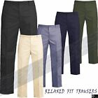 BNWT Mens Rugby Trousers Elasticated Waist Relaxed Fit Casual Work Pants Trouser
