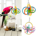 Pet Bites Parrot Bird Climb Chew Toys Silicone Ball Parakeet Swing Cage Hanging