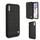 BMW Leather Hard Case Iphone 8, 7, x, Xs Cover Faceplate Case Perforation