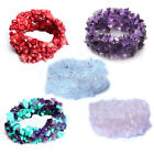 Natural Crystal Gravel Bracelet Wide Wrap Bangle Women Jewelry Gifts 5 Colors