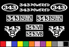 343 CI V8 POWERED 10 DECAL SET AMC ENGINE STICKERS EMBLEMS FENDER BADGE DECALS