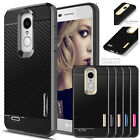 For LG Aristo 2/Tribute Dynasty Hybrid Phone Case Cover + Glass Screen Protector