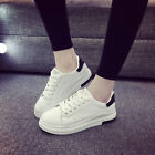 Women's Spring Leather White Shoes Korean Casual Breathable Students Shoes Y607