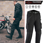 Motorbike Motorcycle Trousers Black Waterproof CE Armoured Cargo Biker Texpeed