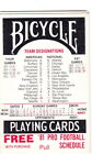 1981 PRO FOOTBALL SLIDE POCKET SCHEDULE - BICYCLE PLAYNG CARDS